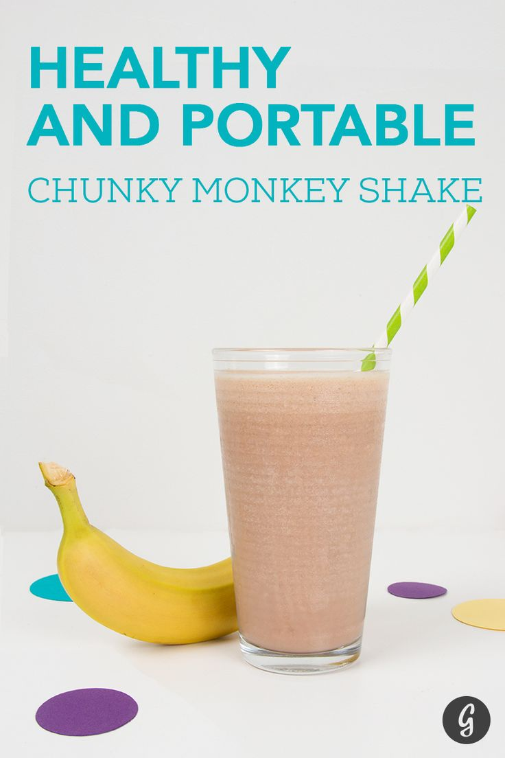Healthy and Portable Chunky Monkey Shake #highprotein #snacks