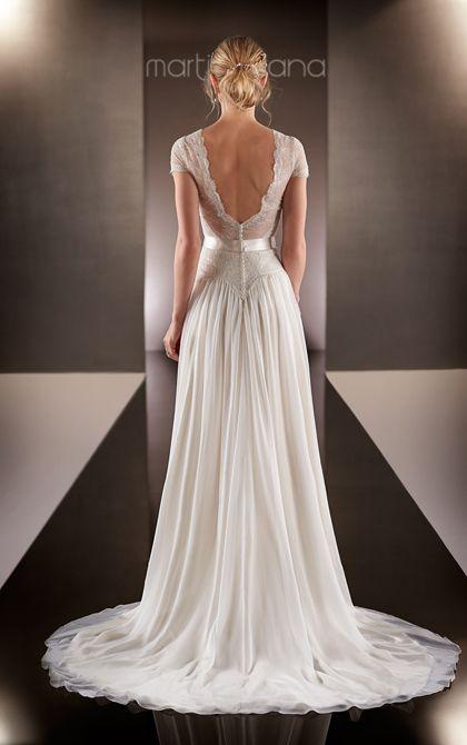 Wedding Dresses   Lace Cap Sleeve Wedding Dress   Martina Liana