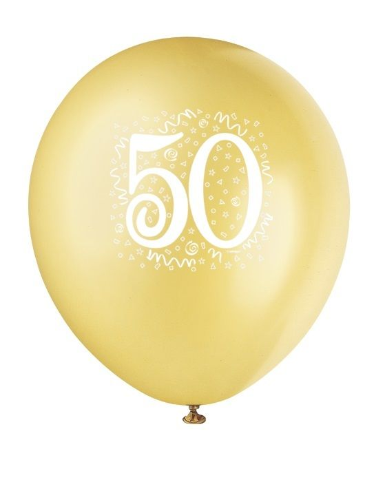 50th Birthday Party | 50th Party Supplies | Anniversary and Birthday Party Decorations