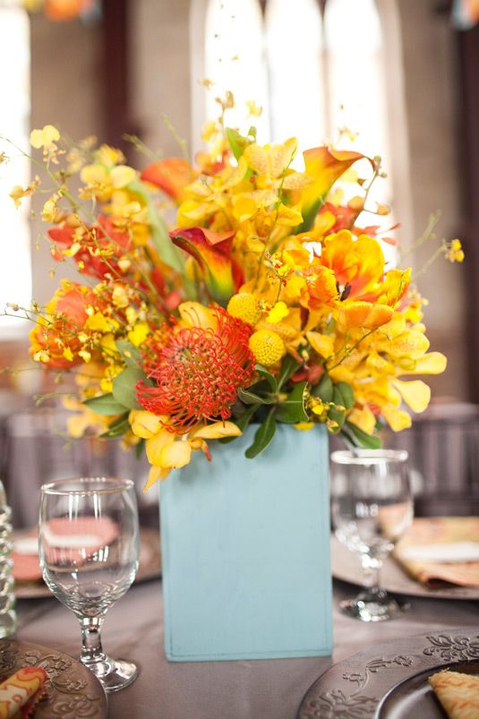Best images about yellow orange centerpieces