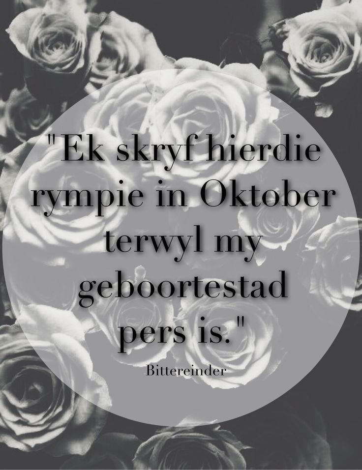 Afrikaanse Lirieke! A Tale of Three Cities - Bittereinder