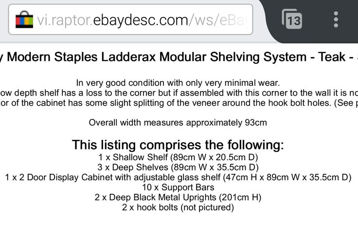 Ladderax system measures