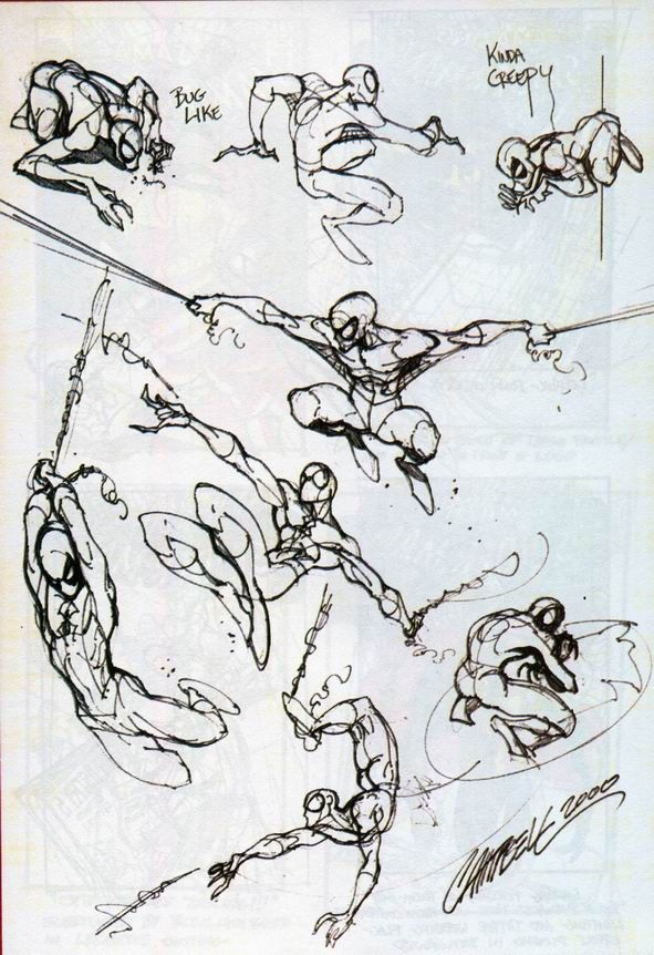 Spider-Man sketches by J. Scott Campbell
