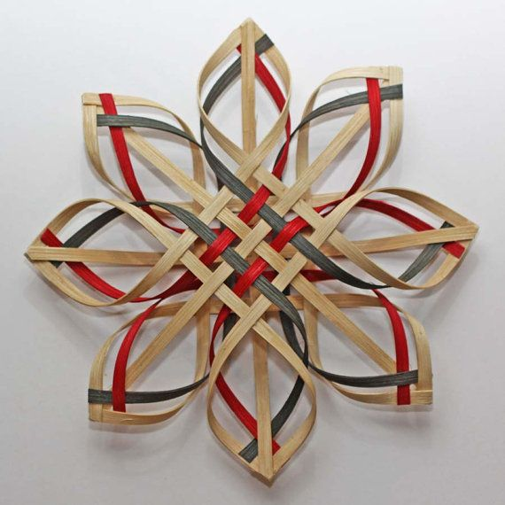 3D Original large woven Carolina Snowflake by JustaBunchofBaskets, $30.00