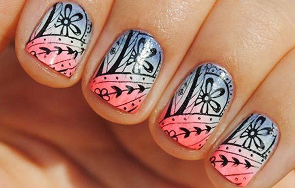 Diseños de uñas en fotos, diseño de uñas en fotos - cortas.  Join to CLUB! #diseñouñas #nailsdesign #uñasfinas