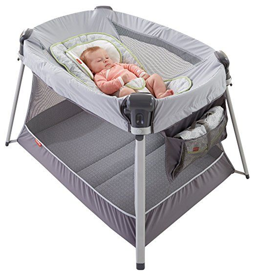 Fisher-Price Ultra-Lite Day & Night Play Yard Take some weight off your shoulders with a portable play yard that's just half the weight of other popular play yards, with all the same great features, and more.It's everything you and baby need to play, sleep, change and repeat —at home or on the go! At only 15 lbs., it's super lightweight and easy-peasy to pop up.