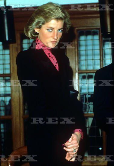 November 16 1988 Princess Diana in Queen Square London