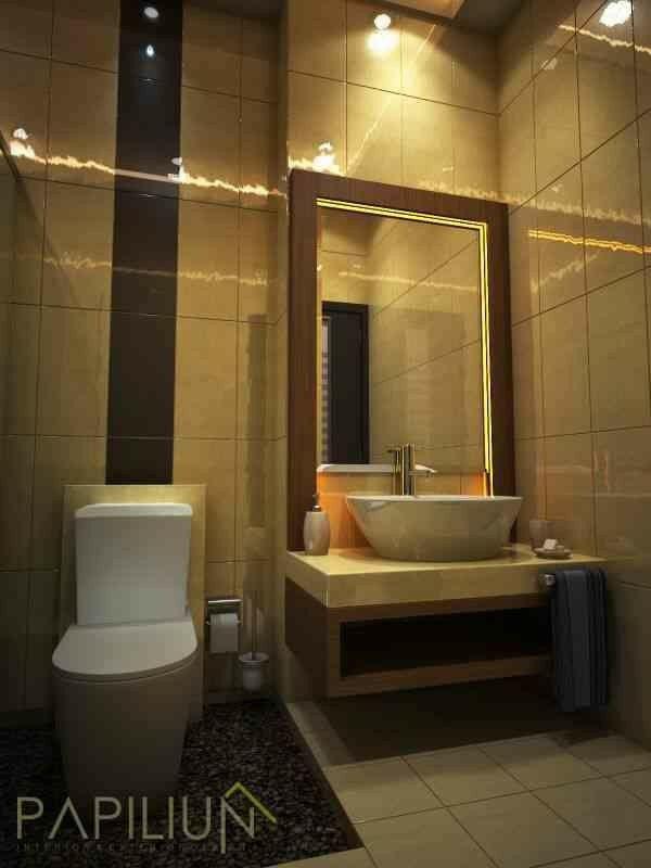 Warm Minimalis Bathroom