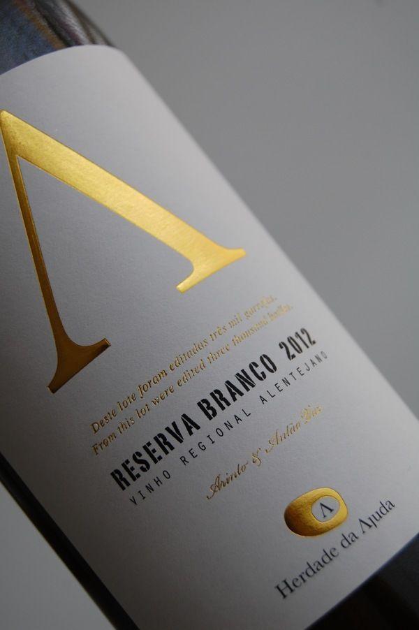White Reserva Label - Herdade da Ajuda on Packaging Design Served #taninotanino #vinosmaximum