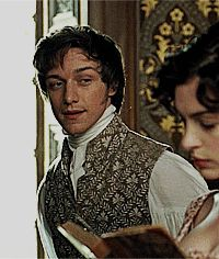 James McAvoy as Tom Lefroy in Becoming Jane - This movie made me very frustrated at how attractive he is.