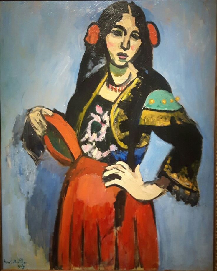 Donna spagnola con tamburino 1909 Museo Puskin di Mosca