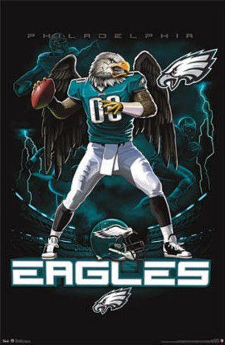 Philadelphia Eagles | Philadelphia Eagles Quarterback Mascot Posters at AllPosters.com