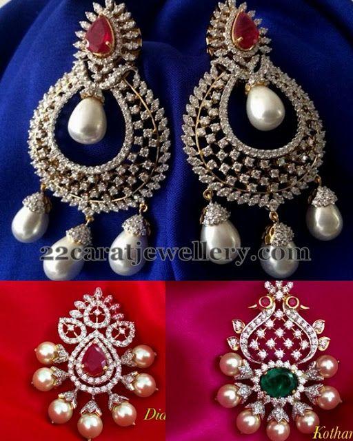 Jewellery Designs: 1 Lakh Diamond Pendants for Black Beads