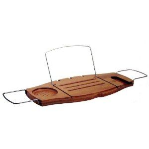 Umbra Aquala Bamboo and Chrome Bathtub Caddy - the perfect bathtub tray for soaking with a good book and glass of wine