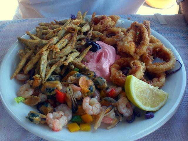 Seafood in Santorini : delicious