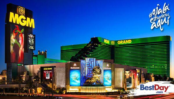 En el corazón de esta maravillosa ciudad, se encuentra uno de los mejores y más grandes hoteles del mundo: MGM Grand Hotel and Casino. Esta fabulosa propiedad galardonada con el Reconocimiento Cuatro Diamantes Además de las lujosas habitaciones y suites, el hotel ofrece el mayor centro de juego y de entretenimiento con más de 15,000 m2, 20 restaurantes, área comercial, shows nocturnos y hasta un área con felinos vivos donde se ha recreado su hábitat natural.  #OjalaEstuvierasAqui