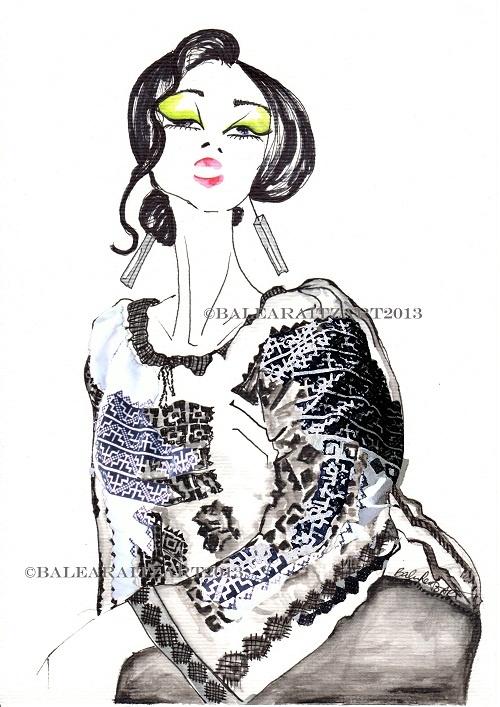 Fashion Illustration & more...: Romanian Blouse -IE Art