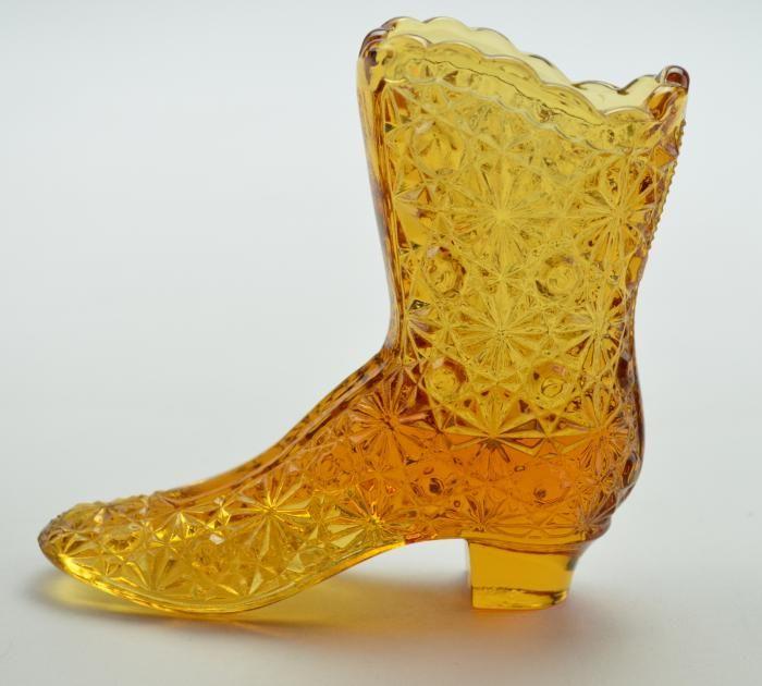 Glass Cowboy Boot Vases Unique Wedding Glass 17oz Handled