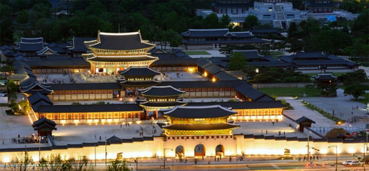 경복궁 Gyeongbokgung Palace, Seoul, South-Korea