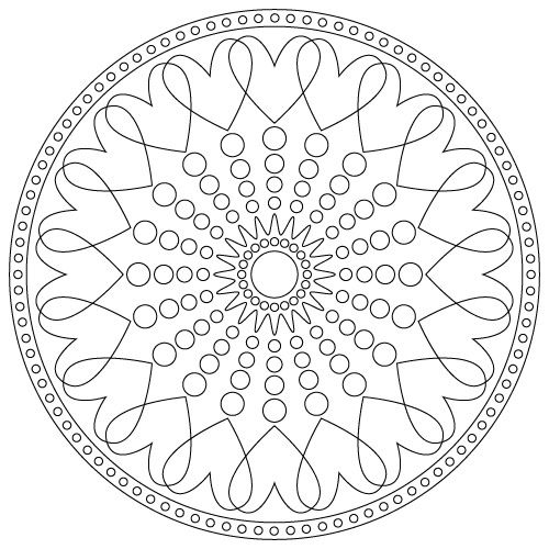 simple heart mandala coloring pages - heart mandala non commercial use only yoga kids yoga