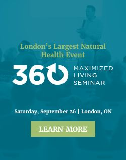 Registration is open for this month's 360: Maximized Living Seminar, London's largest natural health event!  Our early bird sale ends on September 11, so make sure to take advantage and save $40 off your tickets. For more information, visit http://drhardick.com/maximized-living-seminar