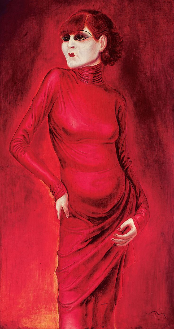 Portrait of dancer Anita Berber 1925 -  by Otto Dix (from my lady in red board).