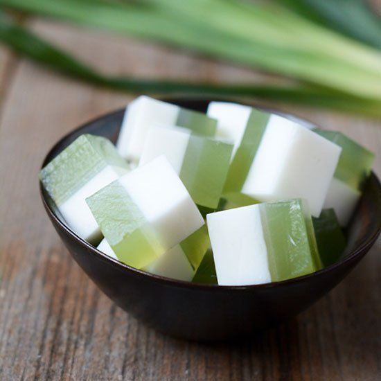 Fresh, yet satisfying Thai dessert made with the delicious flavors of coconut and pandan