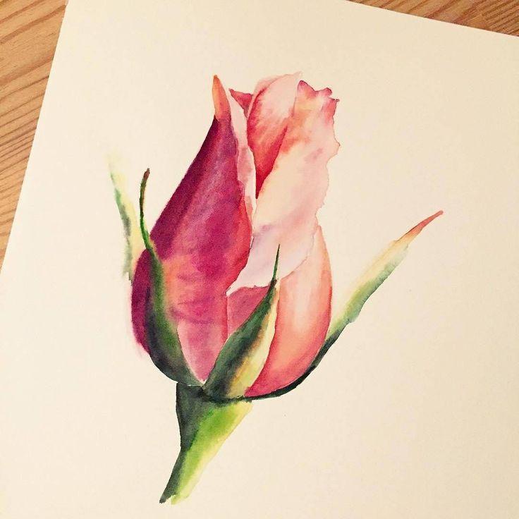 Watercolorist: @lulebedeva  #watercolor #waterblog