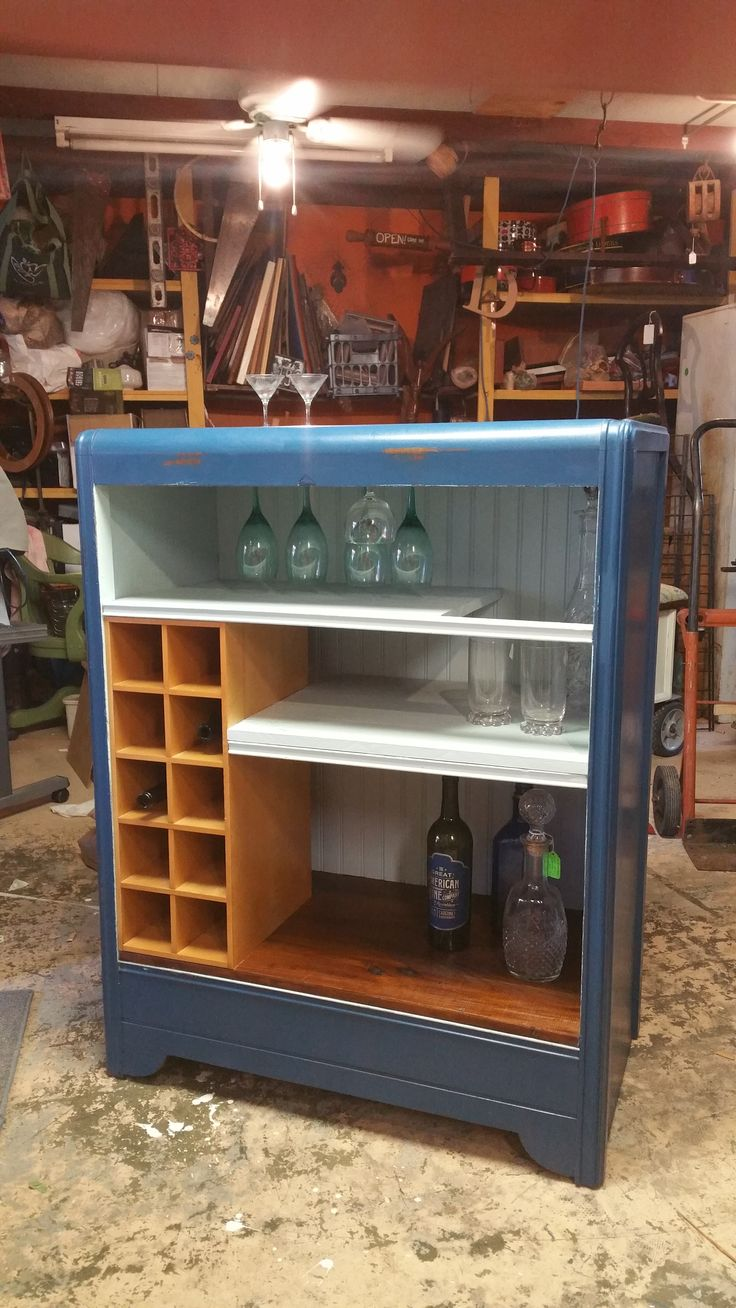 Waterfall Repurposed Dresser to Bar - Granma Had One Antiques