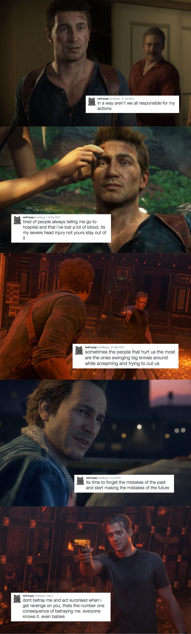 Uncharted 4: A Thief's End text posts