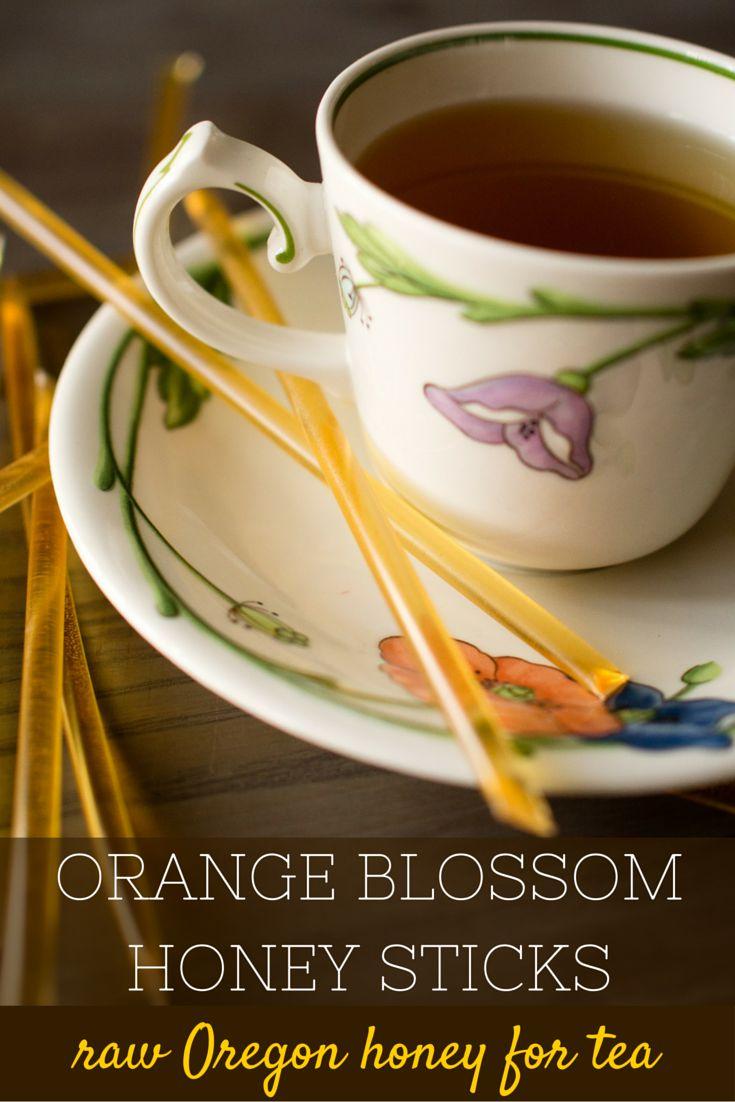 Orange Blossom Raw Honey Sticks for Tea