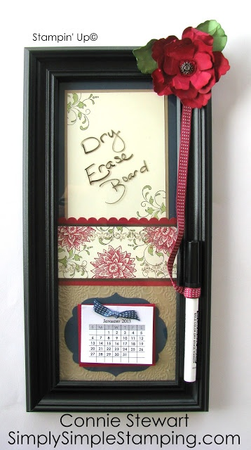 SIMPLY SIMPLE STAMPING with Connie Stewart - 2013 Calendar and Dry Erase Board - Creative Elements