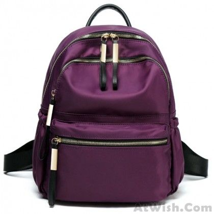 Leisure Pure Color Waterproof Oxford School Bag Simple Student Backpack 6e40af345b4fa