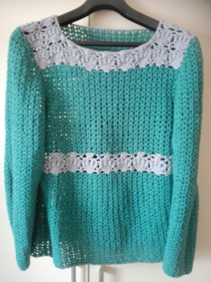 Hačkovaný pulover