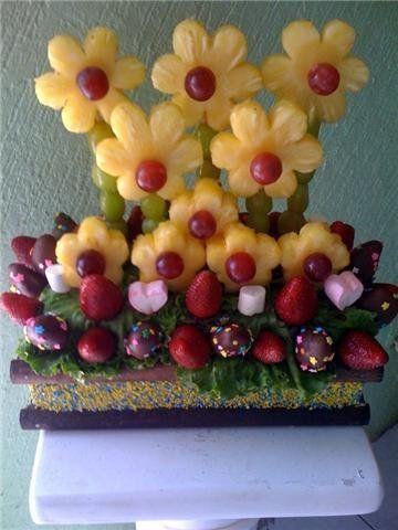 150 best images about centros de mesa con frutas on pinterest for Centros de frutas