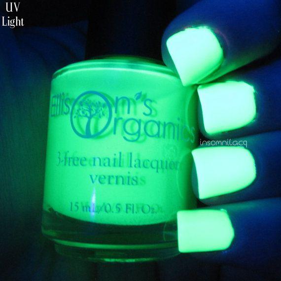 MATTE Neon Green Nail Polish - Glow in the Dark Nail Polish - Vegan Nail Lacquer…