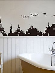 I+Love+Paris+City+Eiffel+Tower+Architecture+Wall+Stickers+Fashion+Living+Room+Bedroom+Wall+Decals+–+USD+$+9.99