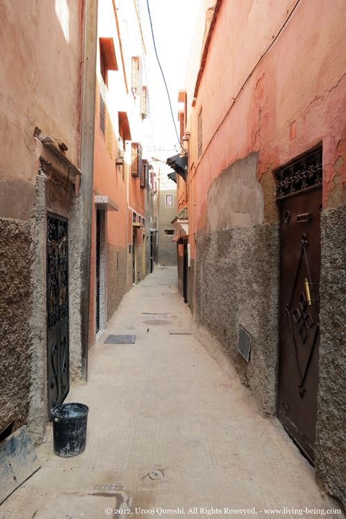 A typical street in the medina of #Marrakech.