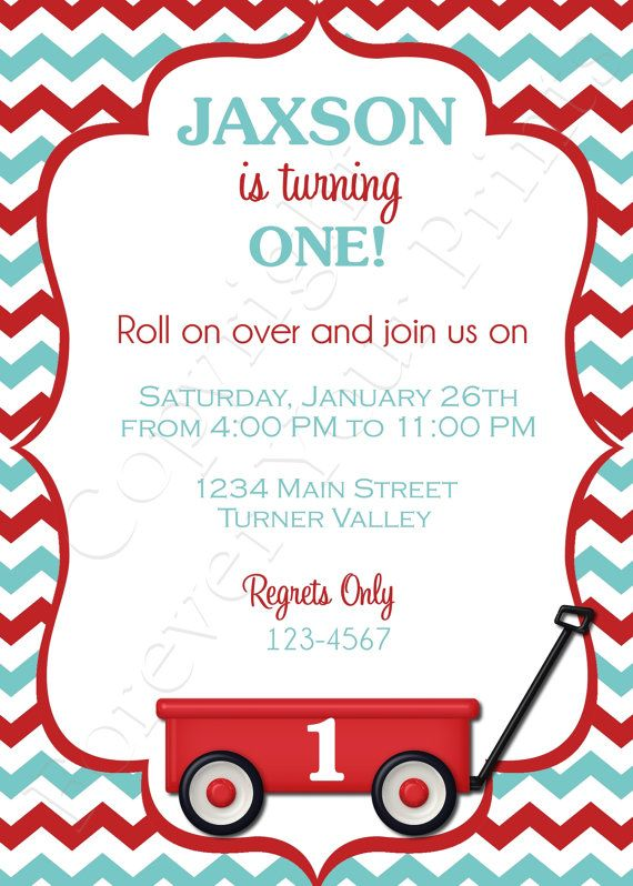 10 best ideas about Red Wagon – Red Wagon Birthday Invitations