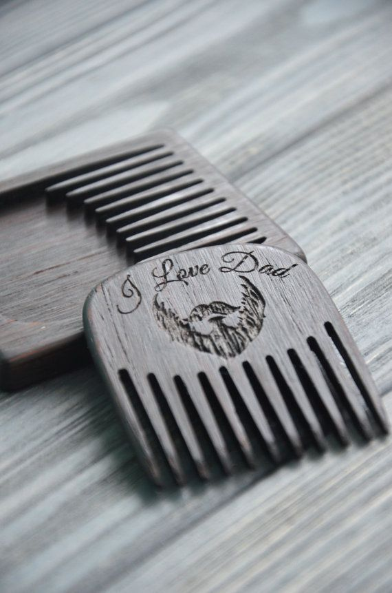 Gift For Dad Father Wooden Beard Hair Comb Mustache Him Husband Of The Bride Groom Birthday Pocket