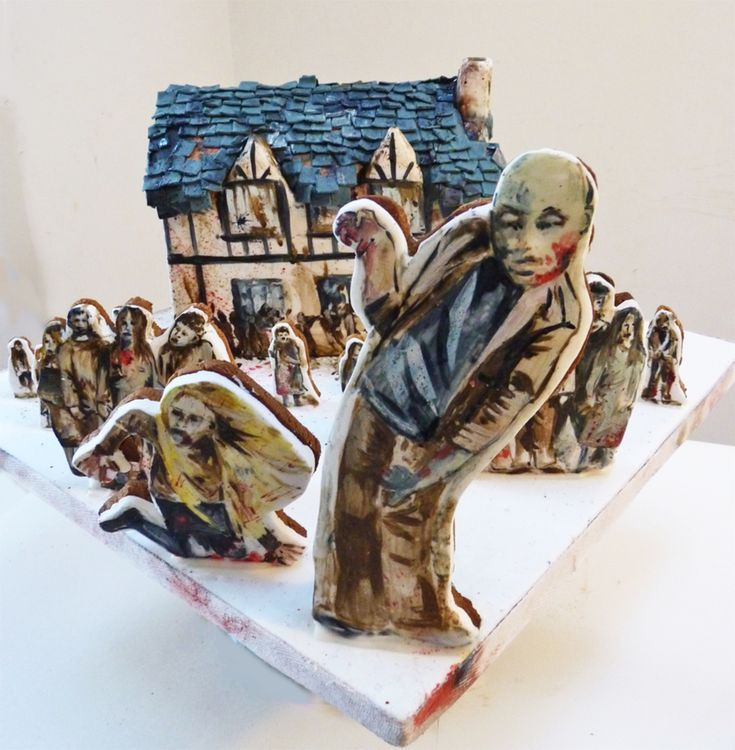 This Is A Gingerdead House I Made For Some Friends To Promote Their Zombie App Run Run As Fast As You Can You Cant Escape Me Im The Gin This Is A Gingerdead House I Made For Some Friends To Promote Their Zombie App Run Run As Fast As You Can You Cant Escape Me Im The Gin... #hanging-zombie #halloween #living-dead #cakecentral