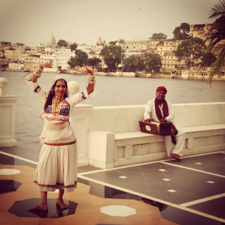 Dancer practising at Taj Lake Palace #udaipur #india