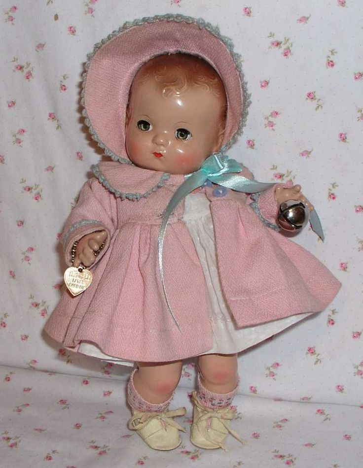 RARE Magnetic Hands -- 1940's EFFANBEE Patsy BABYkin TODDLER Doll...precious