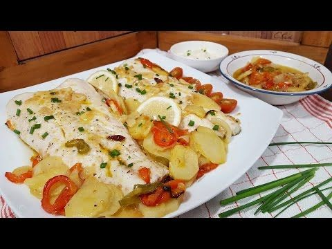 Merluza al horno con patatas, receta fácil y deliciosa | Cocina