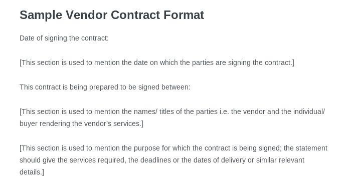 Vendor Contract Template. Vendor Contract Template Create a Vendor ...