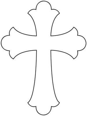 Simple Cross design (UTZH1023) from UrbanThreads.com