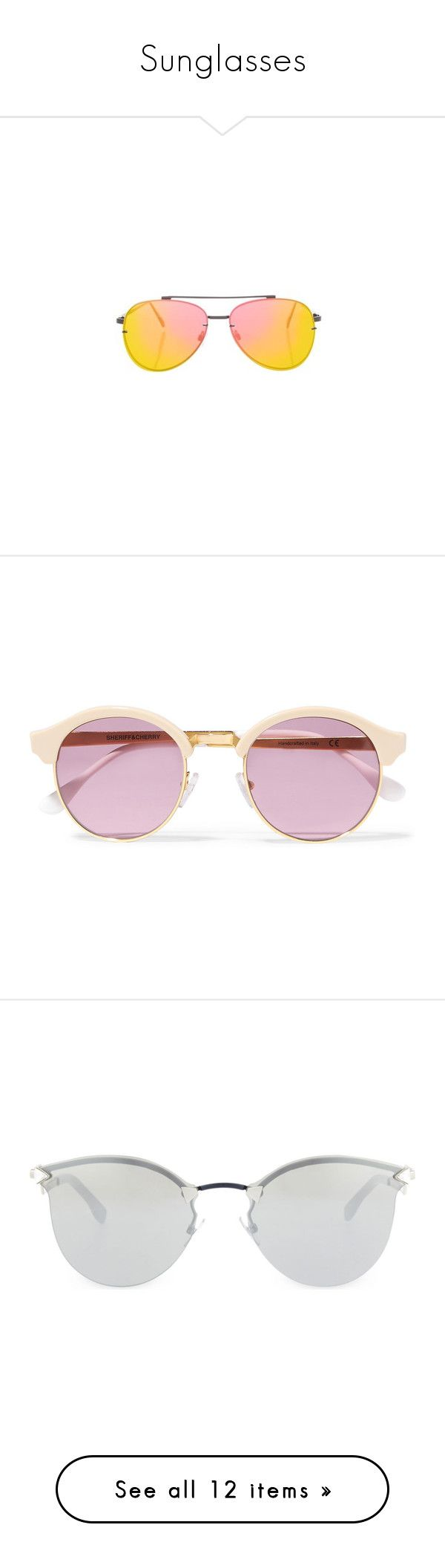 """Sunglasses"" by haleybean47 ❤ liked on Polyvore featuring accessories, eyewear, sunglasses, pink, metal sunglasses, flat lens sunglasses, metal glasses, topshop sunglasses, pink sunglasses and glasses"