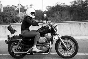 Tracy of the Iron Lilies shot by Womens Moto Exhibit. Women Who Ride. Harley Davidson