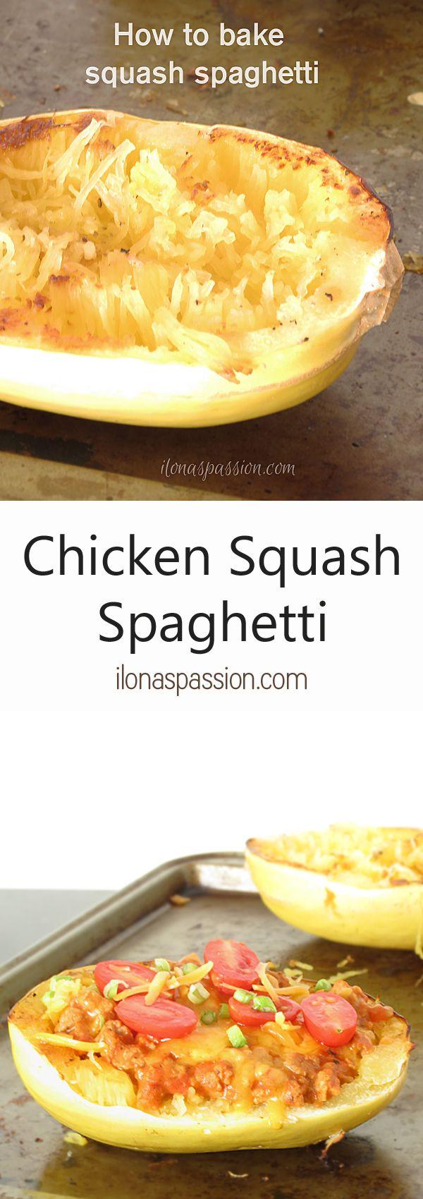 Chicken Squash Spaghetti - Ilona's Passion