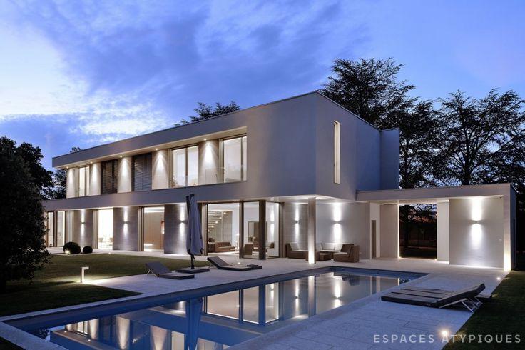 ecully maison d architecte agence ea lyon espaces atypiques lyon pinterest lyon. Black Bedroom Furniture Sets. Home Design Ideas